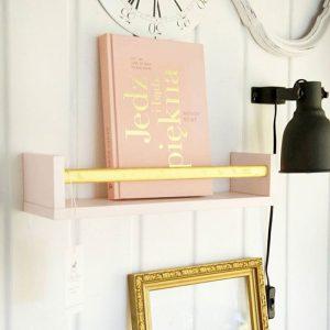 Wooden Shelve Pink&Gold
