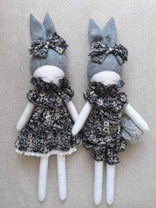 Bunny Doll Navy Dress Organic Cotton