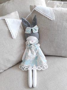 Bunny Doll Blue Dress Organic Cotton