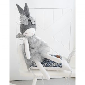 Ballerina Bunny Doll Grey