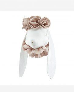 Rabbit in Flower Crown Powder Pink