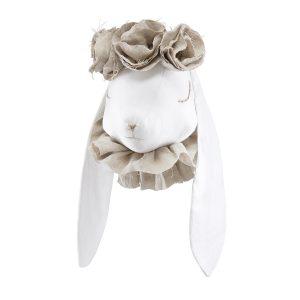 Rabbit with Flower Crown Beige